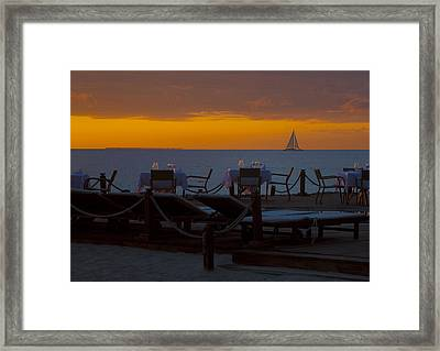 Framed Print featuring the photograph Quiet Time ... by Chuck Caramella