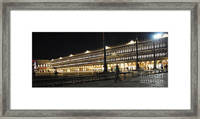 Quiet Time In Piazza San Marco Framed Print by Jacqueline M Lewis