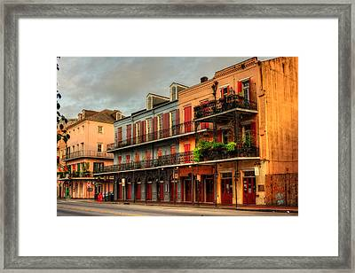 Quiet Time On Decatur Street Framed Print by Chrystal Mimbs