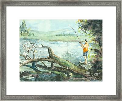 Quiet Time Out Framed Print by Elisabeta Hermann
