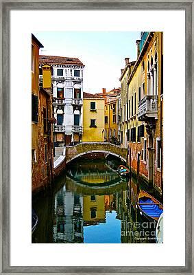 Quiet Venice Morning Framed Print by Scott Kraus