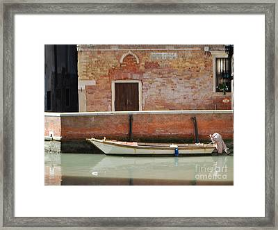 Quiet Venice Framed Print