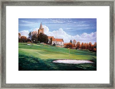 Quiet Village Framed Print by Steve Crisp