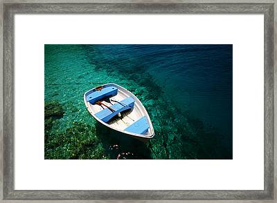 Quiet Waters. Maldives Framed Print