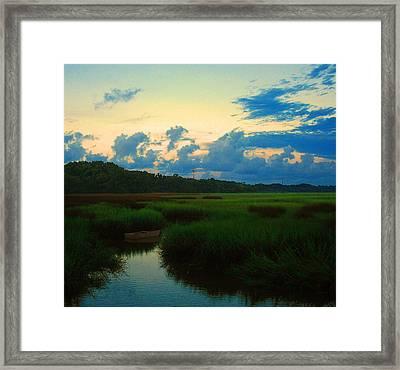Quiet Waterway Framed Print