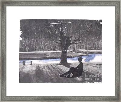 Quiet Willow Framed Print by Leslie Jennings