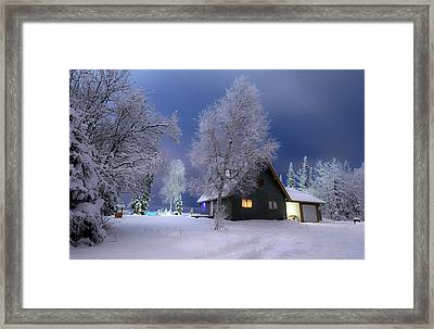 Quiet Winter Times Framed Print by Ron Day