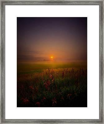Quietly Framed Print by Phil Koch