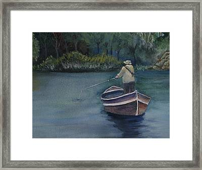 Framed Print featuring the painting Quietude by Jan Cipolla