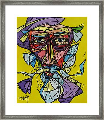 Quijote Fragmentado Framed Print