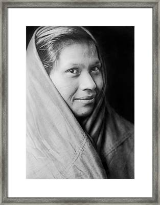 Quileute Girl Circa 1913 Framed Print by Aged Pixel