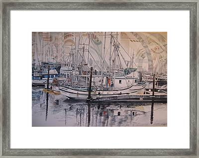 Quileute Marina - Bananas Framed Print by Lance Wurst