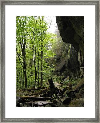 Quilliams Cave Framed Print by Melinda Fawver