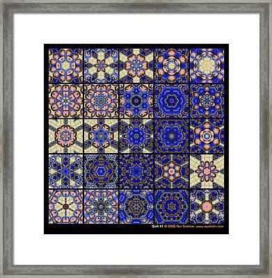 Quilt 1  Framed Print by Ann Stretton