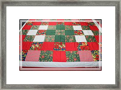 Quilt Christmas Blocks Framed Print