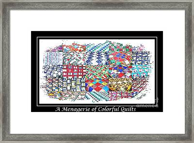 Quilt Collage Illustration Framed Print