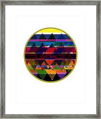 Quilt Inspired Abstract Framed Print