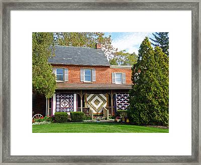 Quilt Maker's House Framed Print by Jean Hall
