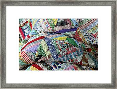Quilt Of Many Colors Framed Print