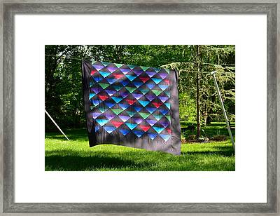 Quilt Top In The Breeze Framed Print
