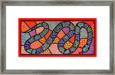 Quilted Black Snake Framed Print