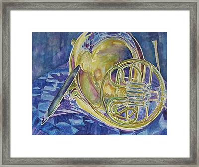Quilted Brass Framed Print