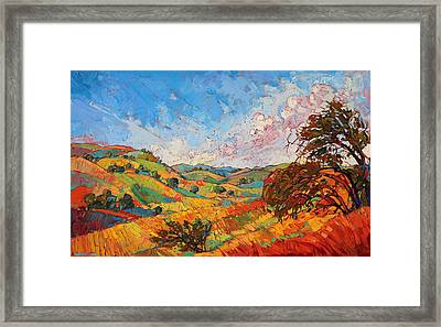 Framed Print featuring the painting Quilted Color by Erin Hanson