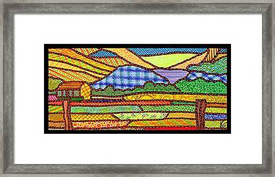 Quilted Massanutten Sunset Framed Print by Jim Harris