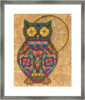 Quilted Owl Framed Print