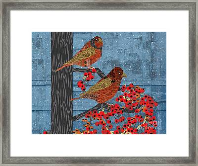 Framed Print featuring the digital art Sagebrush Sparrow Short by Kim Prowse