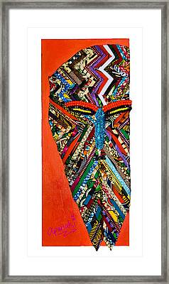 Quilted Warrior Framed Print by Apanaki Temitayo M