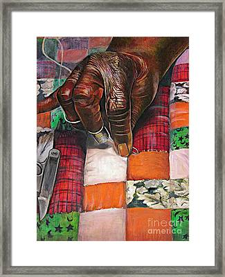 Quilting II Framed Print