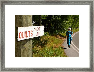 Quilts Next Left Framed Print