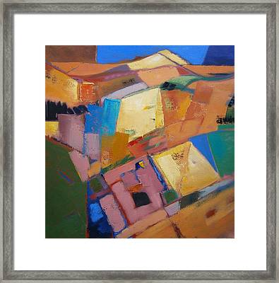 Quiltscape Revised Framed Print