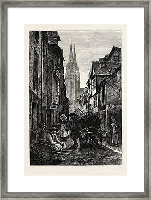 Quimper, Normandy And Brittany, France Framed Print