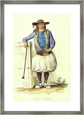 Quimper Peasant, A Summer In Brittany Framed Print