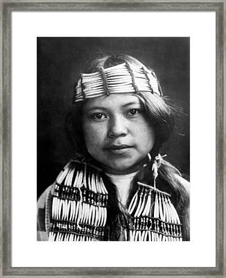 Quinault Indian Girl Circa 1913 Framed Print