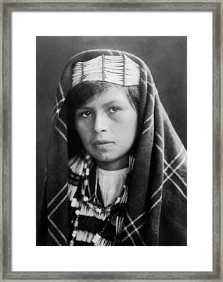 Quinault Indian Woman Circa 1913 Framed Print by Aged Pixel
