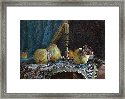 Quince Framed Print by Korobkin Anatoly