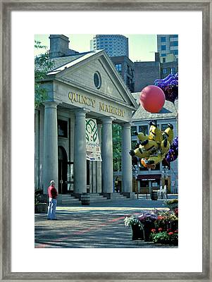 Quincy Market Boston Framed Print by Gail Maloney