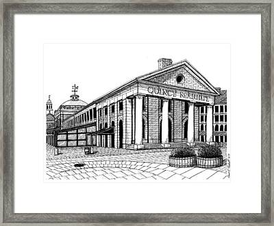 Quincy Market Framed Print by Conor Plunkett