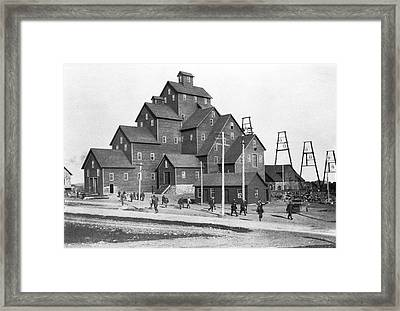 Quincy Mine No. 2 Shaft House Framed Print by Underwood Archives