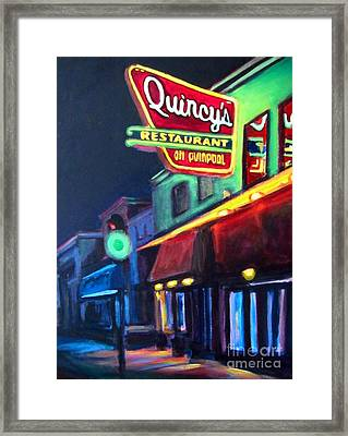 Quincys On Quinpool Road In Halifax Framed Print
