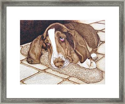 Quincy's Time Out Framed Print