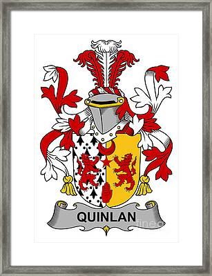 Quinlan Coat Of Arms Irish Framed Print by Heraldry