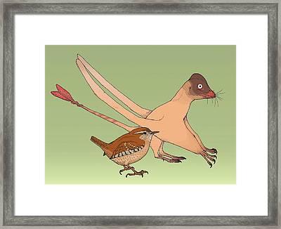 Quinlongopterus Size Comparison Framed Print