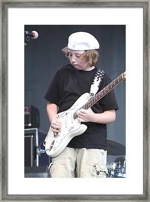 Guitarist Quinn Sulivan Framed Print by Concert Photos