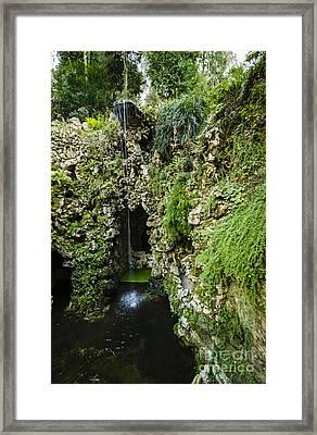 Quinta Da Regaleira Grotto Framed Print by Deborah Smolinske