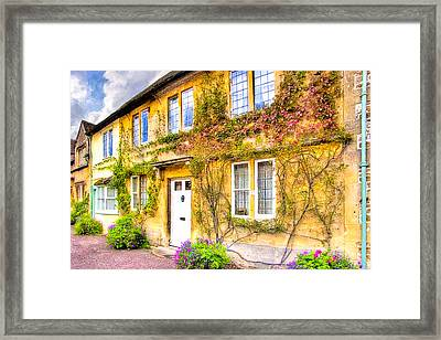 Quintessential English Village Cottage - Lacock Framed Print by Mark E Tisdale