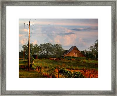 Framed Print featuring the photograph Quintessentially  South Georgia by Laura Ragland